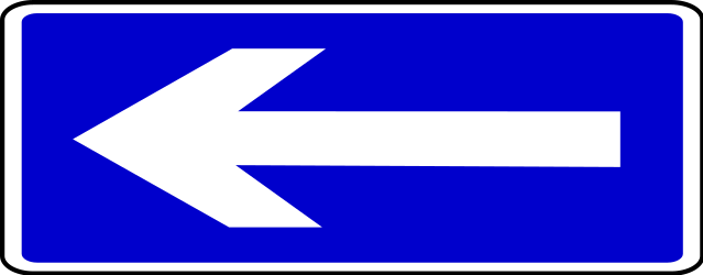 Traffic sign of Bosnia-Herzegovina: Road with one-way traffic