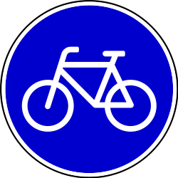 Traffic sign of Bosnia-Herzegovina: Mandatory path for cyclists