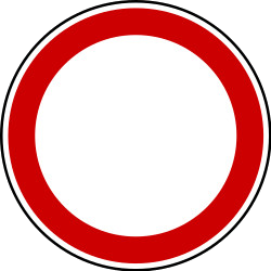 Traffic sign of Bosnia-Herzegovina: Entry prohibited