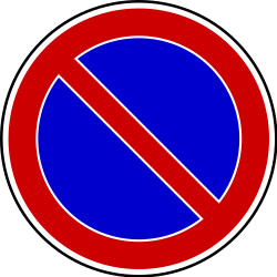 Traffic sign of Bosnia-Herzegovina: Parking prohibited