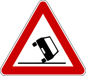 Traffic sign of Bosnia-Herzegovina: Warning for accidents