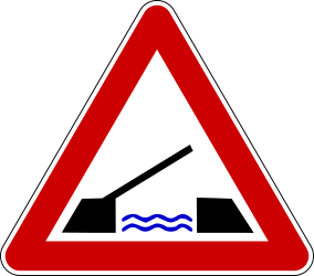 Traffic sign of Bosnia-Herzegovina: Warning for a movable bridge
