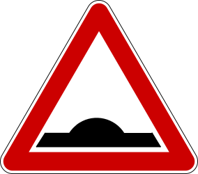 Traffic sign of Bosnia-Herzegovina: Warning for a speed bump