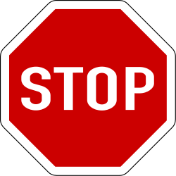 Traffic sign of Bosnia-Herzegovina: Stop and give way to all drivers