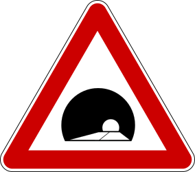 Traffic sign of Bosnia-Herzegovina: Warning for a tunnel