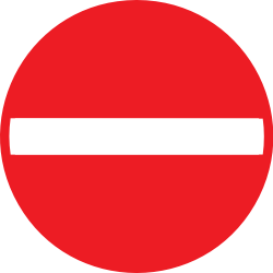 Traffic sign of Belgium: Entry prohibited (road with one-way traffic)
