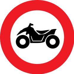 Traffic sign of Belgium: Quads prohibited