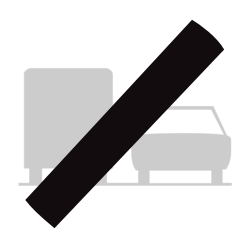 Traffic sign of Belgium: End of the overtaking prohibition for trucks
