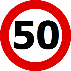 Traffic sign of Belgium: Driving faster than indicated prohibited (speed limit)