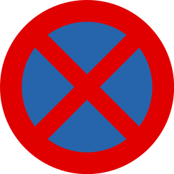 Traffic sign of Belgium: Parking and stopping prohibited