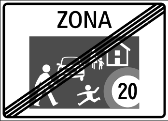 Traffic sign of Switzerland: End of the residential area