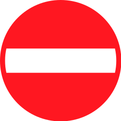 Traffic sign of Switzerland: Entry prohibited (road with one-way traffic)