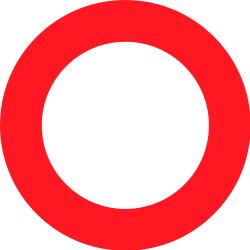 Traffic sign of Switzerland: Entry prohibited