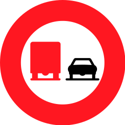 Traffic sign of Switzerland: Overtaking prohibited for trucks