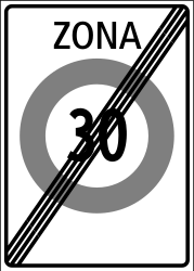 Traffic sign of Switzerland: End of the zone with speed limit
