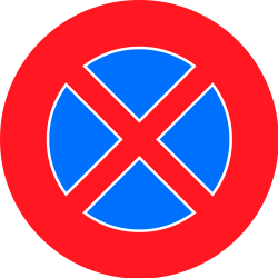 Traffic sign of Switzerland: Parking and stopping prohibited