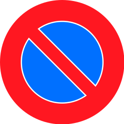 Traffic sign of Switzerland: Parking prohibited