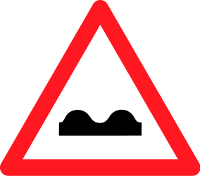 Traffic sign of Switzerland: Warning for a bad road surface
