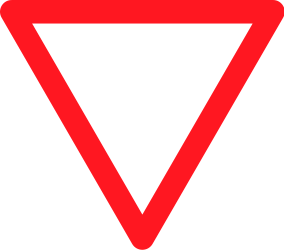 Traffic sign of Switzerland: Give way to all drivers