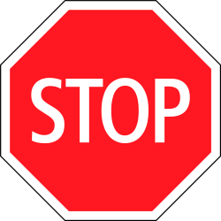 Traffic sign of Switzerland: Stop and give way to all drivers