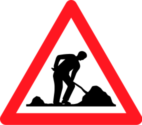 Traffic sign of Switzerland: Warning for roadworks