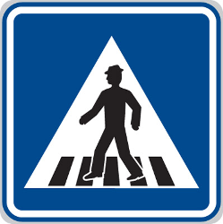Traffic sign of Czech: Crossing for pedestrians