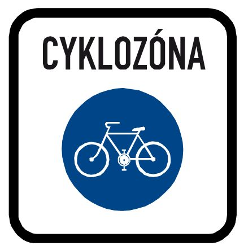 Traffic sign of Czech: Begin of a zone for cyclists