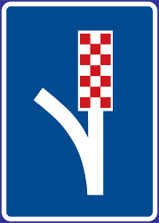 Traffic sign of Czech: Place where you can make an emergency stop