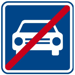 Traffic sign of Czech: End of the expressway
