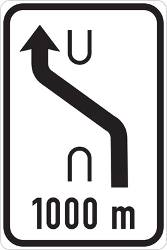 Traffic sign of Czech: Temporary change in the direction of the lanes