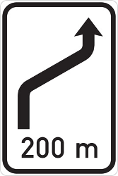 Traffic sign of Czech: End of the changed direction of the lanes