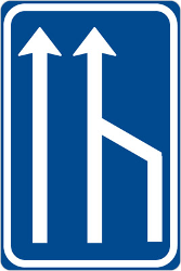 Traffic sign of Czech: End of a lane