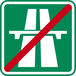 Traffic sign of Czech: End of the motorway