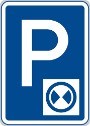 Traffic sign of Czech: Parking only allowed for a limited time