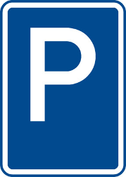 Traffic sign of Czech: Parking is allowed