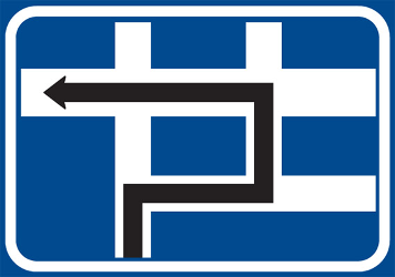 Traffic sign of Czech: Route to be followed in order to turn left