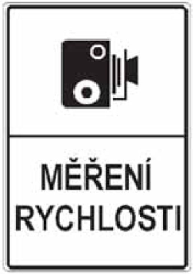 Traffic sign of Czech: Section control