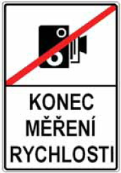 Traffic sign of Czech: End of the section control