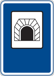 Traffic sign of Czech: Begin of a tunnel