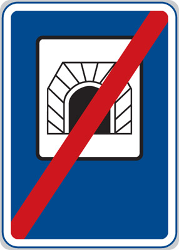 Traffic sign of Czech: End of the tunnel
