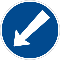 Traffic sign of Czech: Passing left mandatory