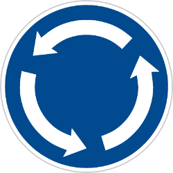 Traffic sign of Czech: Mandatory direction of the roundabout
