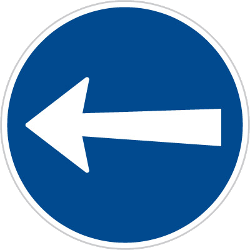 Traffic sign of Czech: Mandatory left