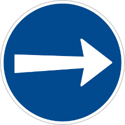 Traffic sign of Czech: Mandatory right