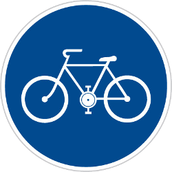 Traffic sign of Czech: Mandatory path for cyclists