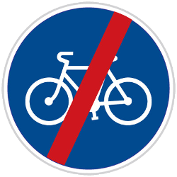 Traffic sign of Czech: End of the path for cyclists