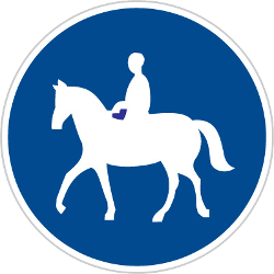 Traffic sign of Czech: Mandatory path for equestrians