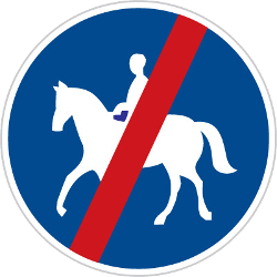 Traffic sign of Czech: End of the path for equestrians