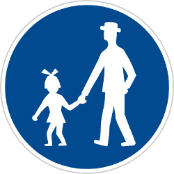 Traffic sign of Czech: Mandatory path for pedestrians