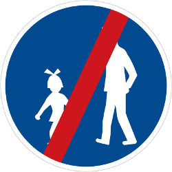 Traffic sign of Czech: End of the path for pedestrians
